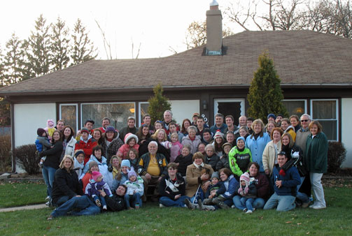 Our Thanksgiving gathering from several years ago