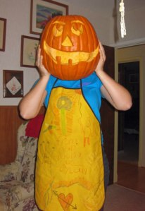 A few years ago my daughter carved a pumpkin for her grandpa!