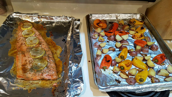 Broiled Salmon & Roasted veggies